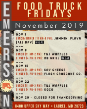 Emerson Food Truck Fridays - November 2019